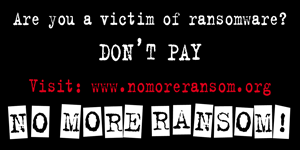 Don't pay, visit www.nomoreransom.org